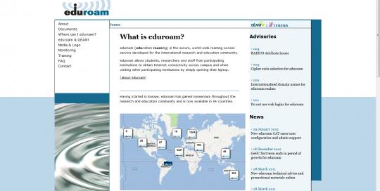 Imagem do Portal eduroam.org, 2014