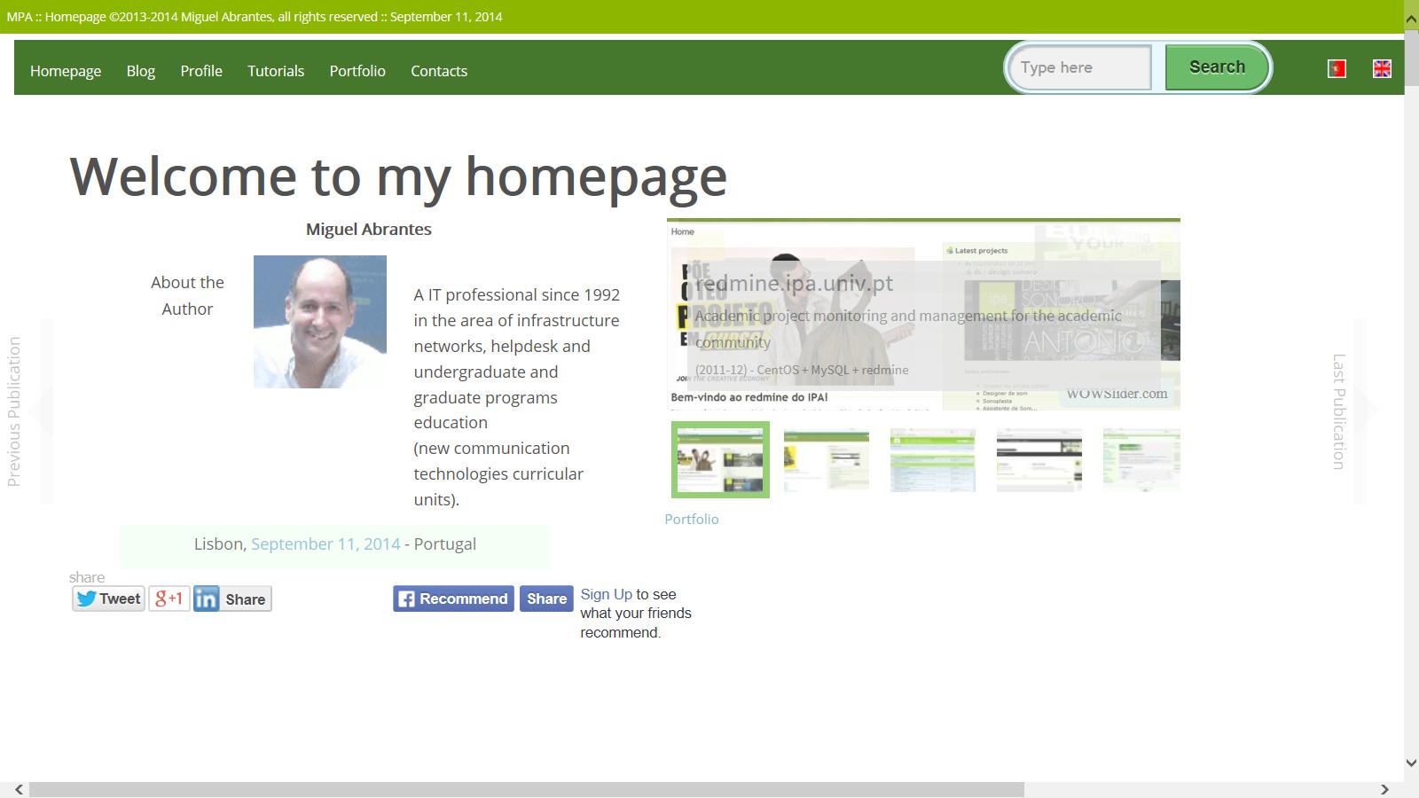 Image: Personal website Miguel Abrantes, 2013-14